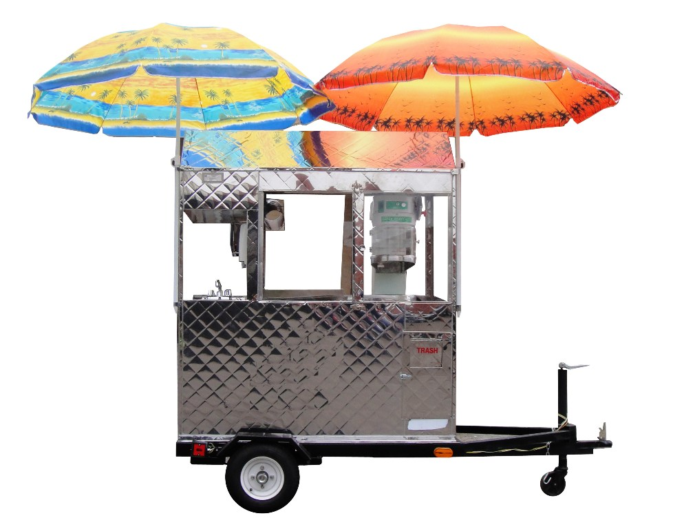 Snow Cone Trailer Cart By Kareem Carts