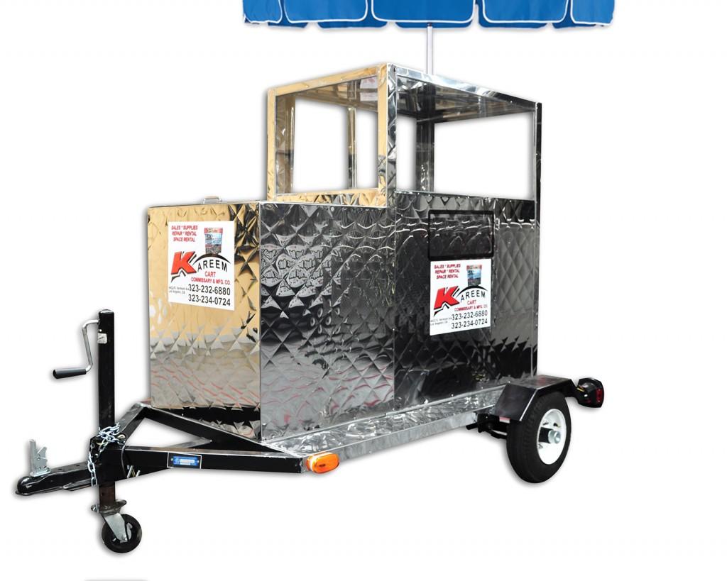 Trailer fruit cart with beverages bin by kareem carts - Carro de frutas ...