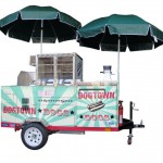seller's view of a Mobile Hot Dogs Cart