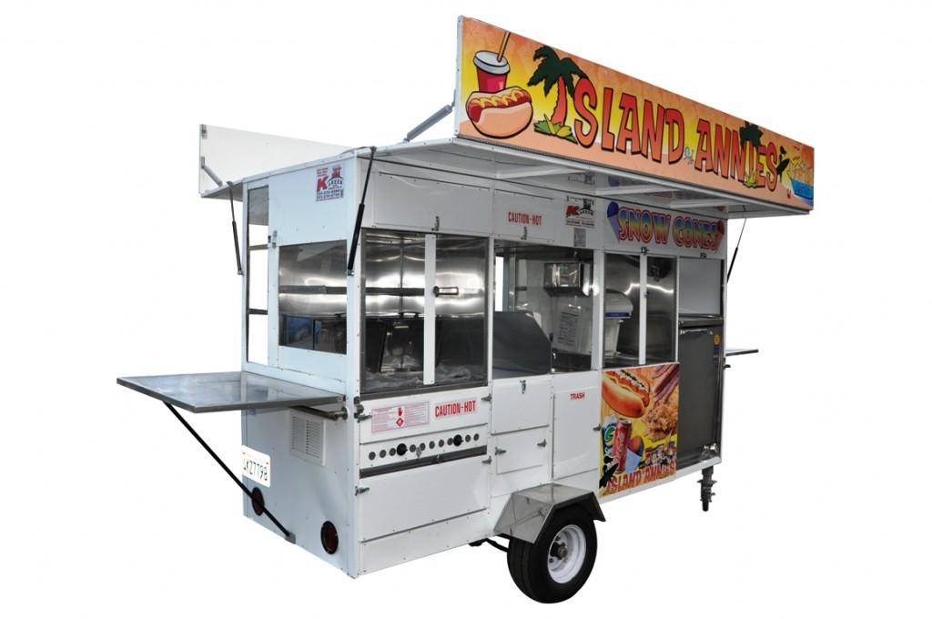 Hot Dog Snow Cone Nachos Churro Trailer Cart