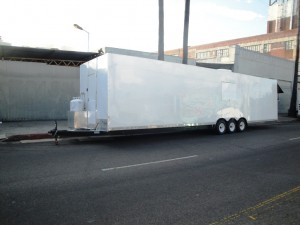 Extra long mobile kitchen