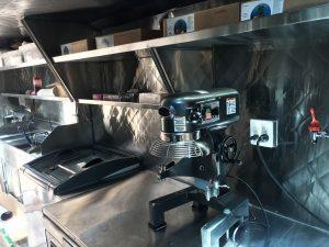 Inside a churros truck - dough mixer