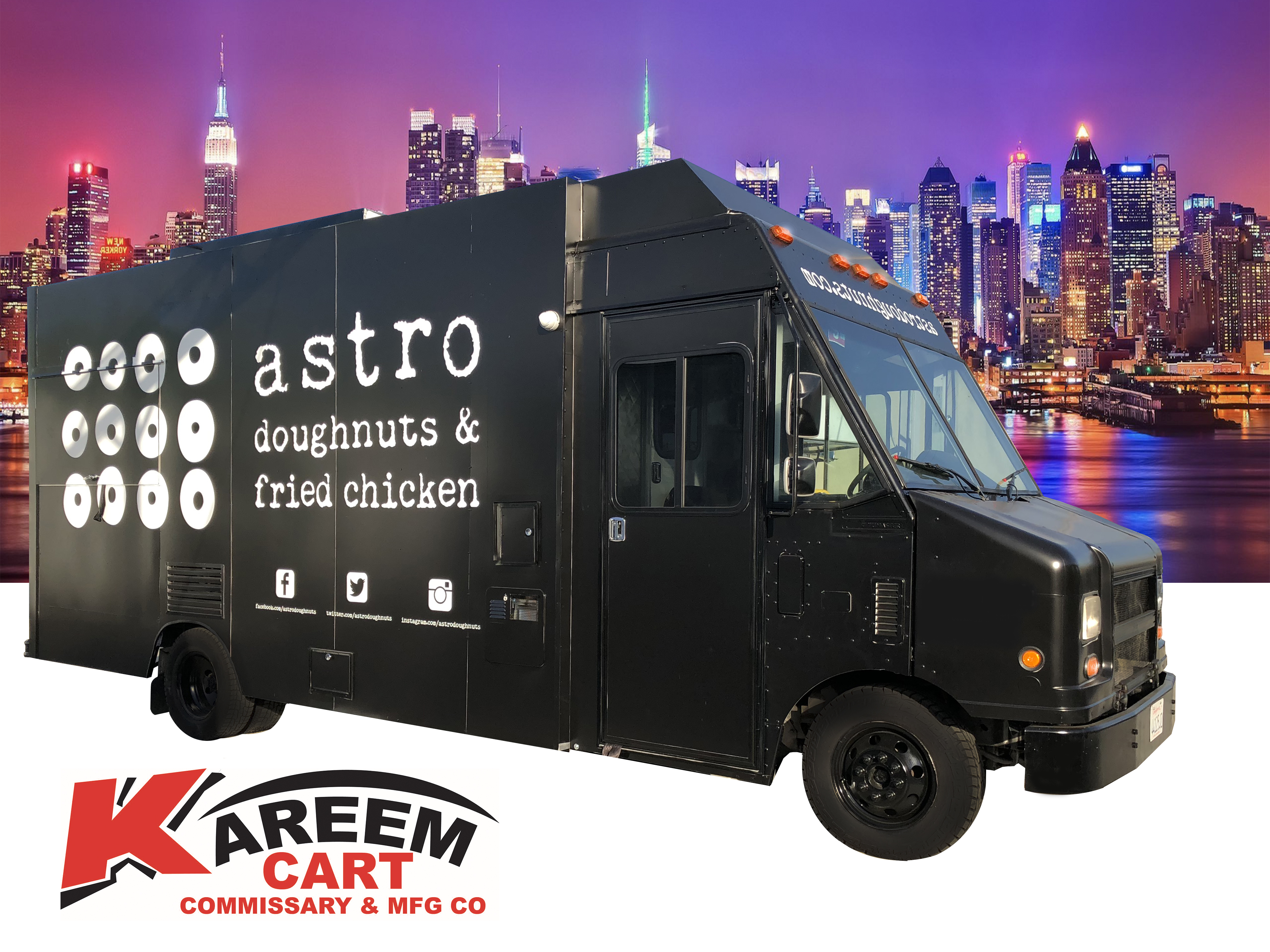 Fried Chicken Food Truck by Kareem Carts Manufacturing pany