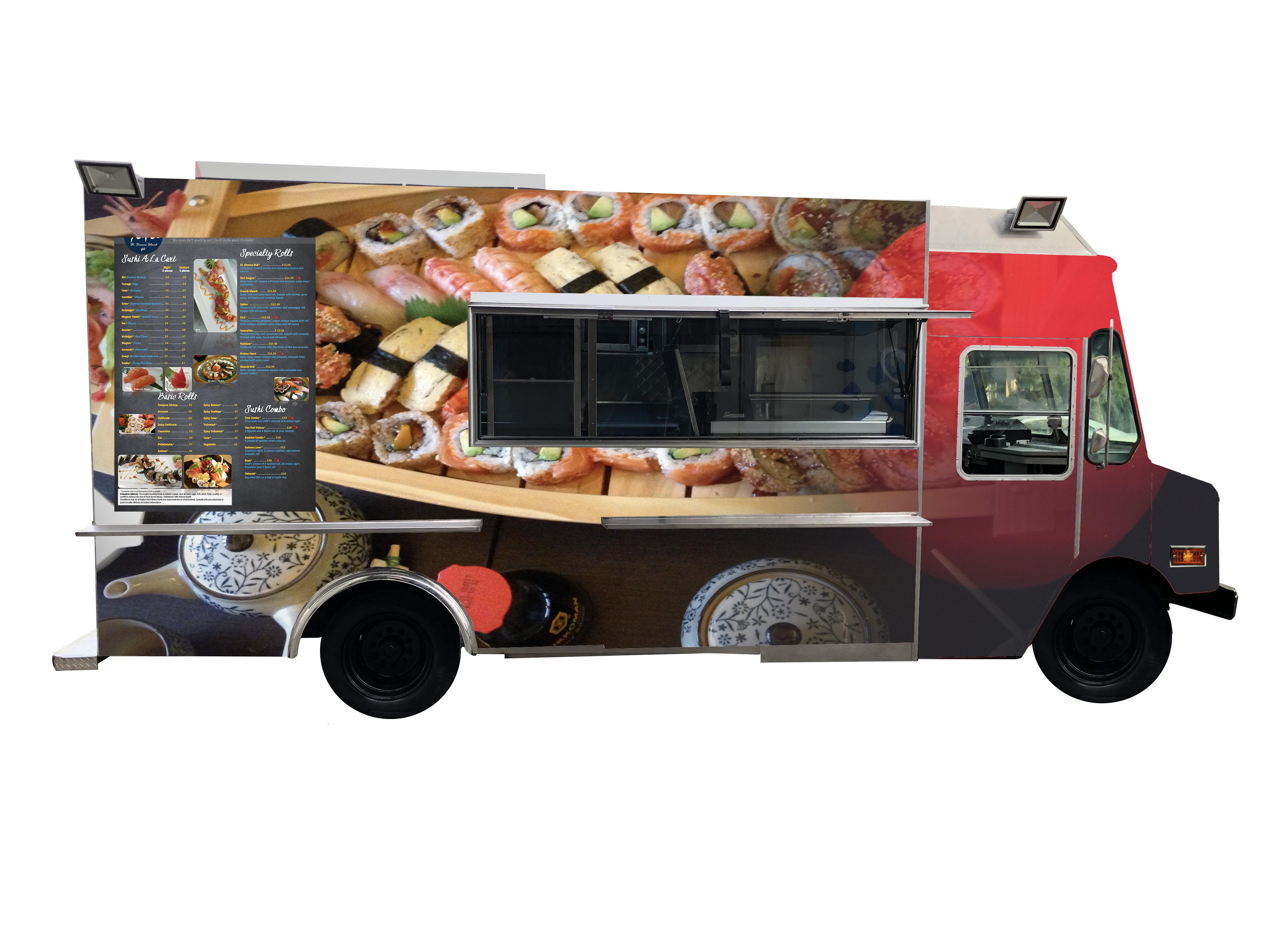 sushi truck | Kareem Carts Commissary & Manufacturing, Co.