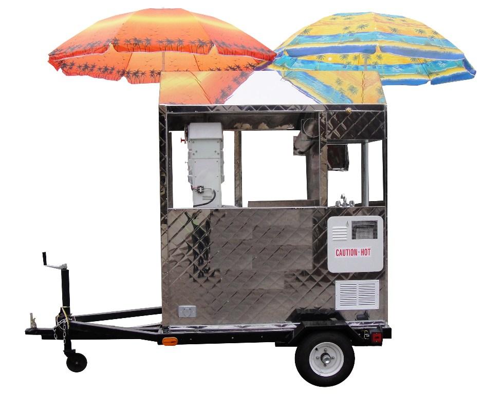 Snow Cone Trailer Cart by Kareem Carts