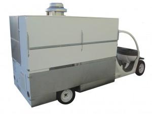 electric cart mounted on a GEM Cart