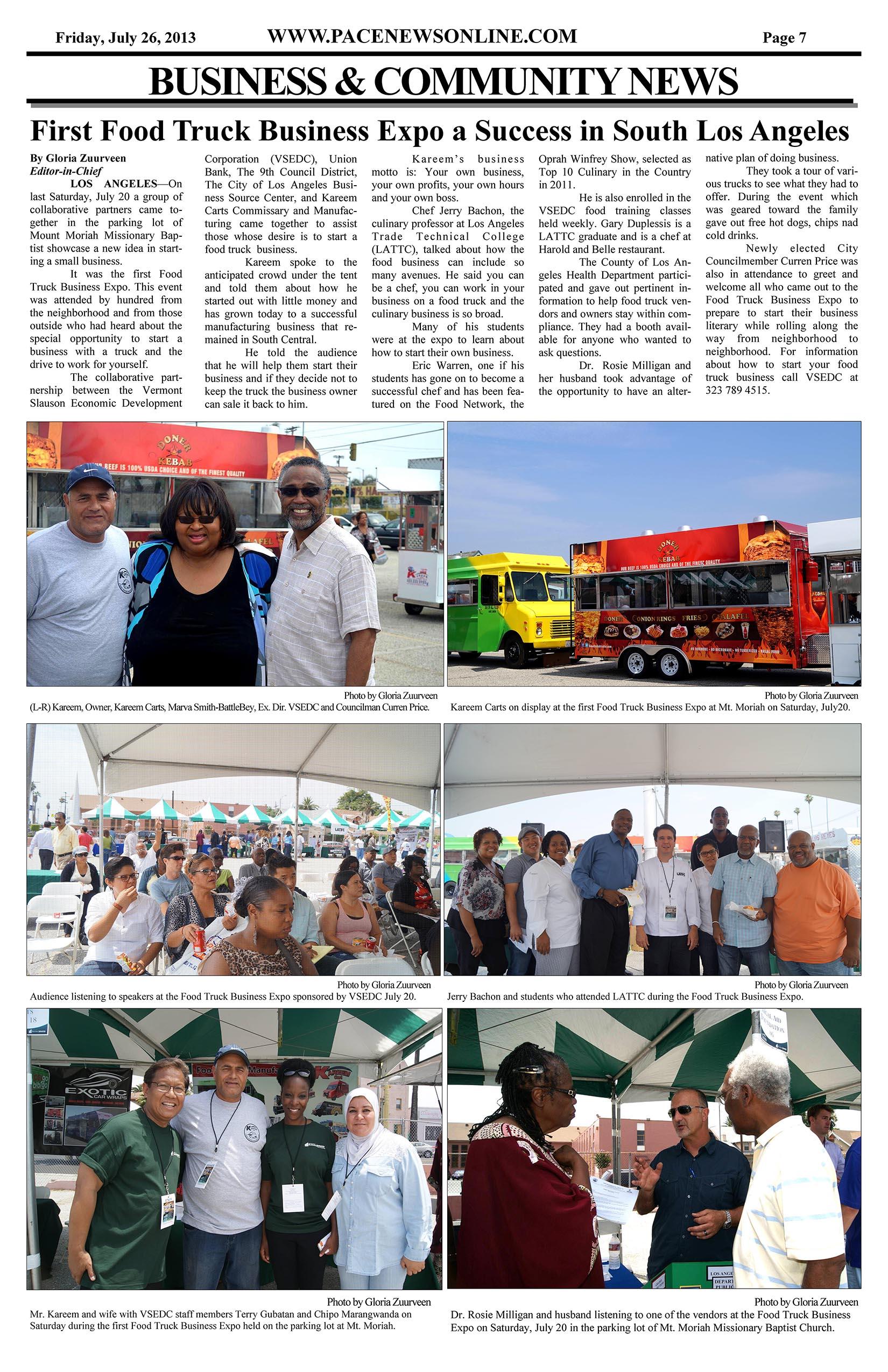 Pace News - Friday July 26, 2013 - Kareem Carts Commissary
