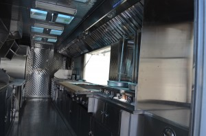 Tacos trailer - cooking area