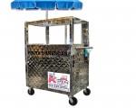 Fruits push cart customers area