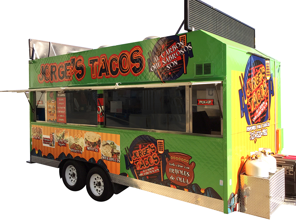 Lunch Truck For Sale >> Step-in Taco Trailer by Kareem Carts