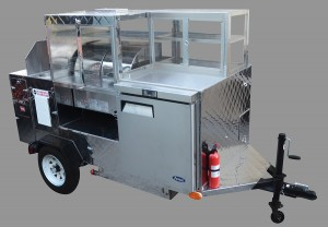 Hot dogs vending cart