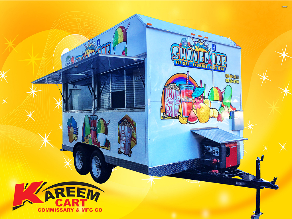 Shaved Ice Trailer By Kareem Carts Manufacturing Company