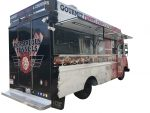 Rear view of the funnel cake food truck